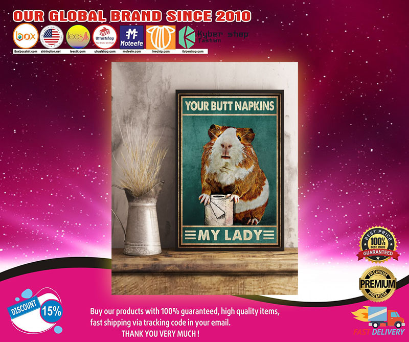 Guinea pig mouse your but napkins my lady poster 8