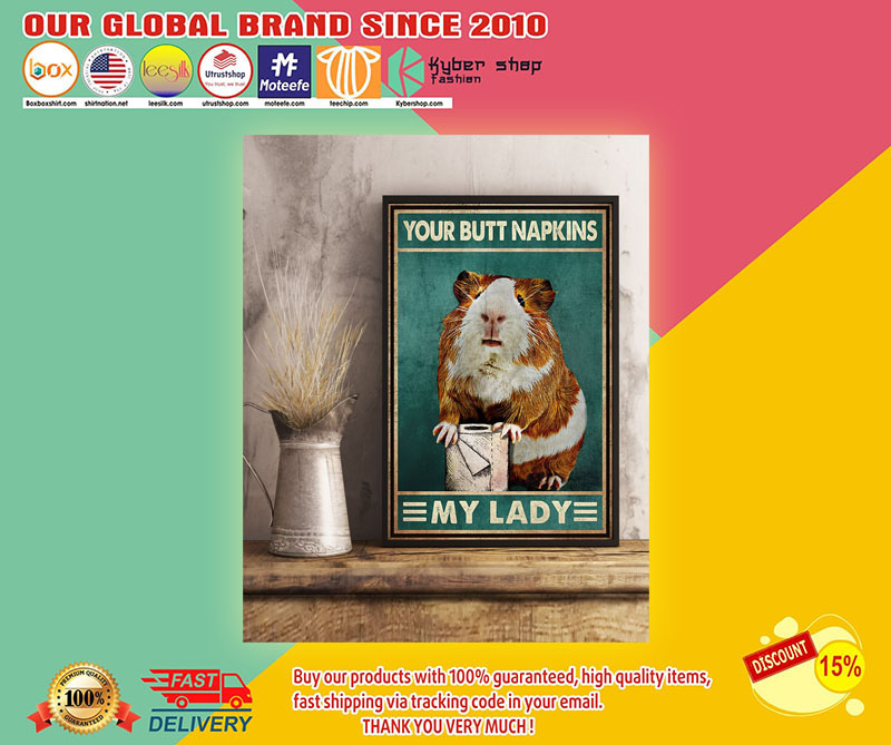 Guinea pig mouse your but napkins my lady poster 7