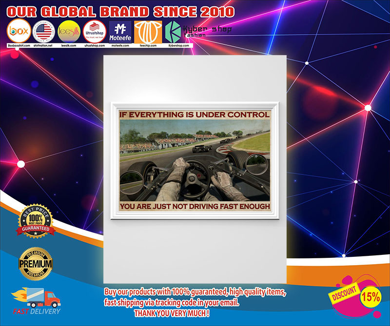 If everything is under control you are just not driving fast enough poster 8