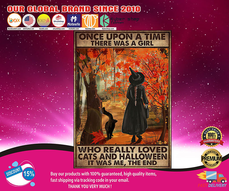 Once upon a time there was a girl who really loved cats and halloween poster 8