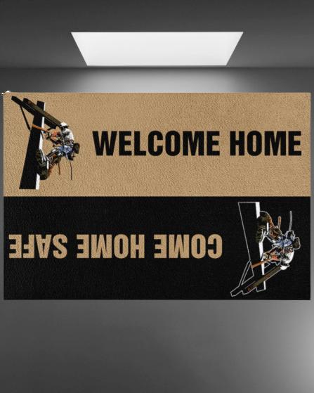Lineman welcome home doormat 2