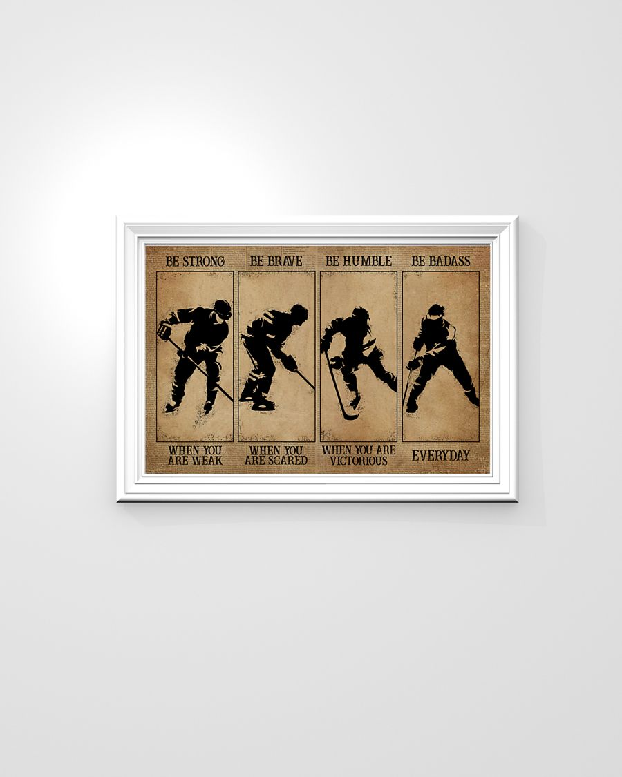 Wresling be strong be brave be humble be badass poster 1