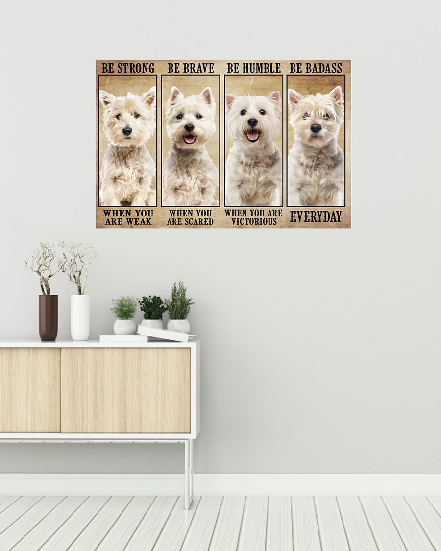 Pitbull be strong be brave be humble be badass poster 1