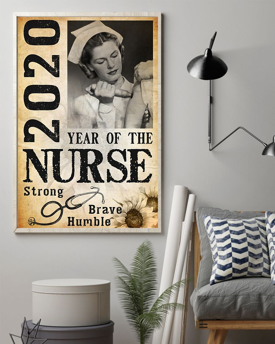 2020 year of the nurse strong brave humble poster 2
