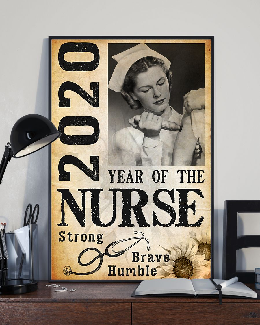 2020 year of the nurse strong brave humble poster 1