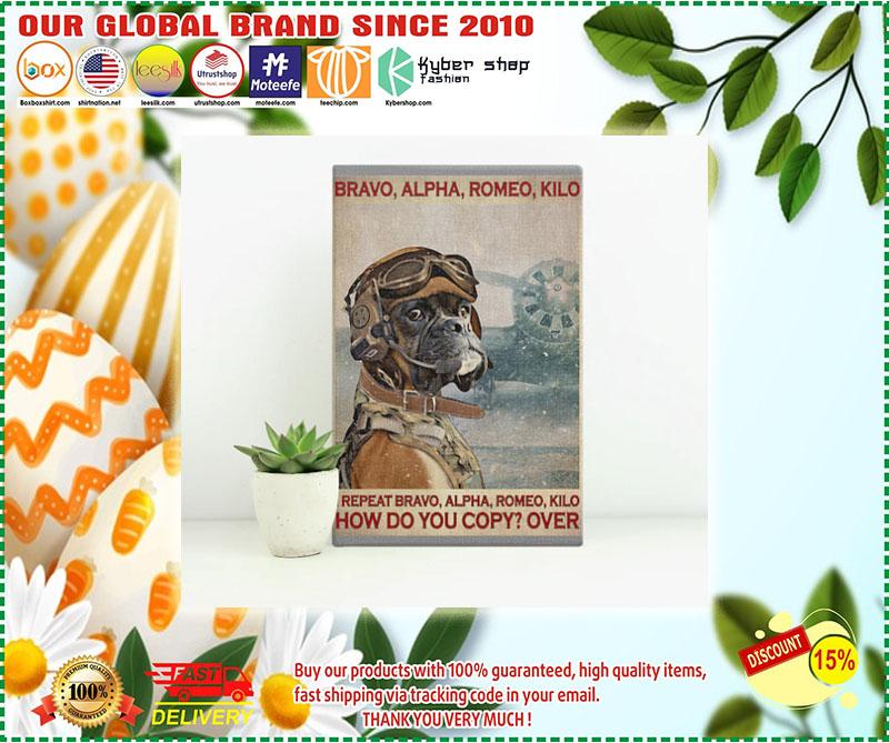 Poster Boxer Dog Pilot bravo alpha romeo kilo 9