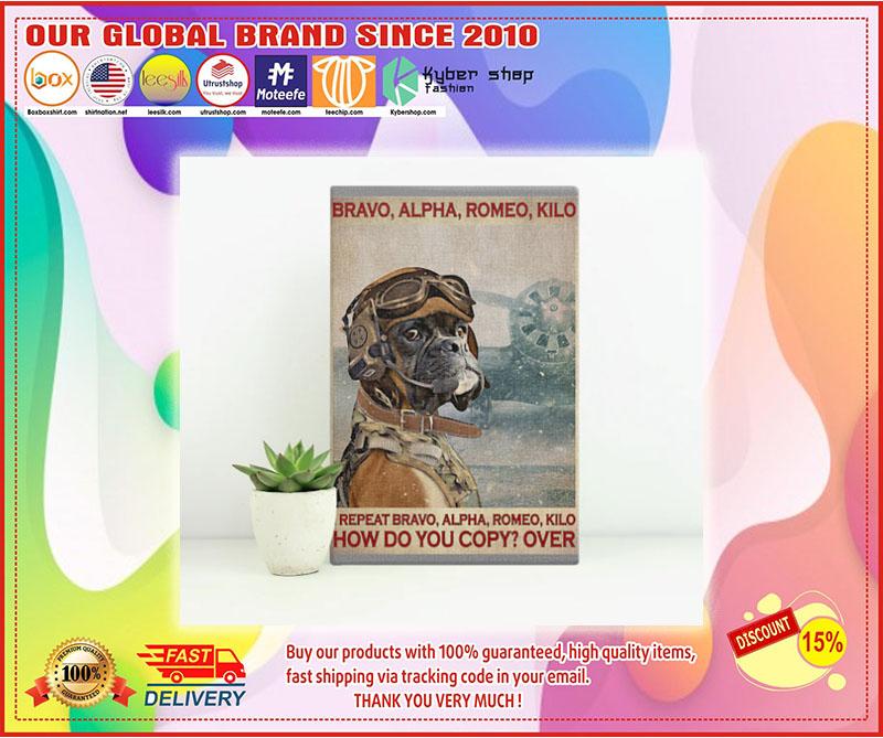 Poster Boxer Dog Pilot bravo alpha romeo kilo 8