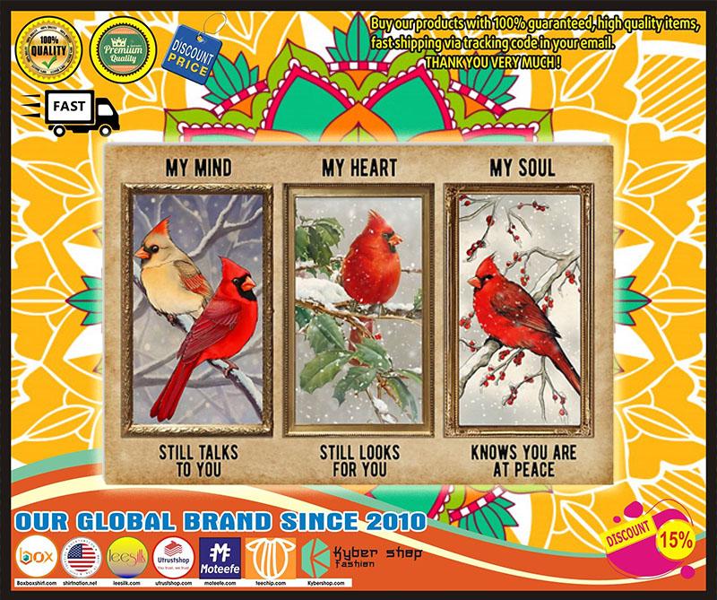 Poster Cardinal My mind my heart my soul 11