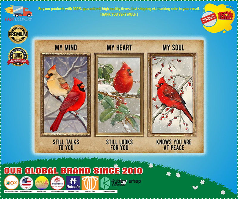 Poster Cardinal My mind my heart my soul 9