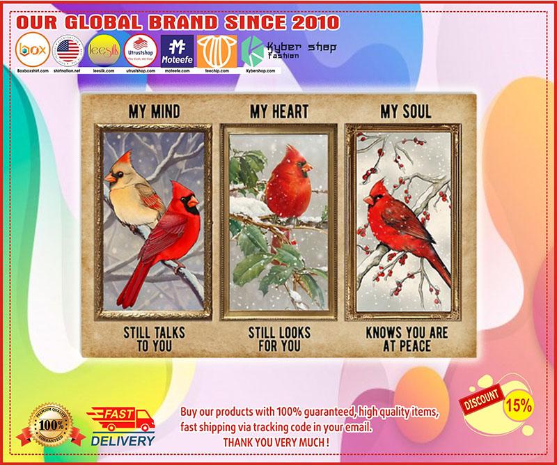 Poster Cardinal My mind my heart my soul 10