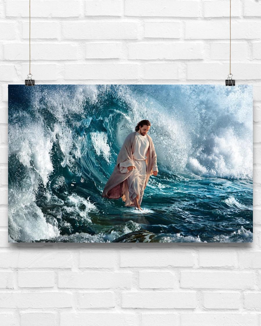 God He walks on water poster 7