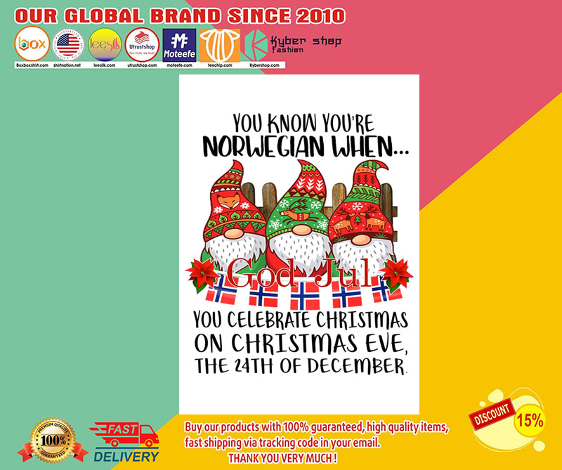 God jul You know you're norwegian when you celebrate christmas poster 8