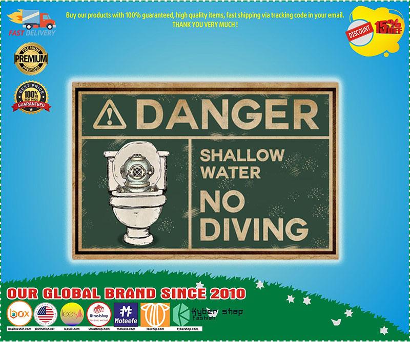 Poster Scuba danger shallow water no diving 11
