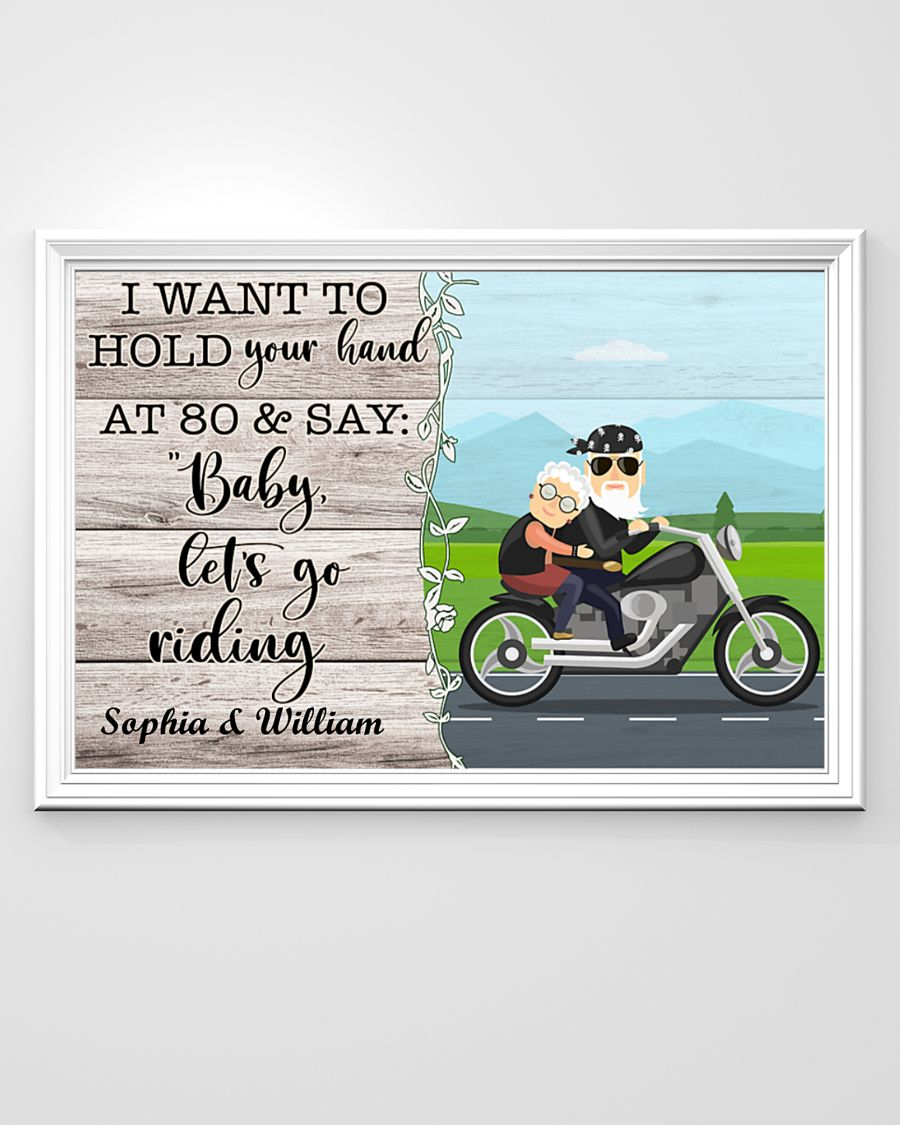 Poster Biker I want to hold your hand and say let's go riding 9