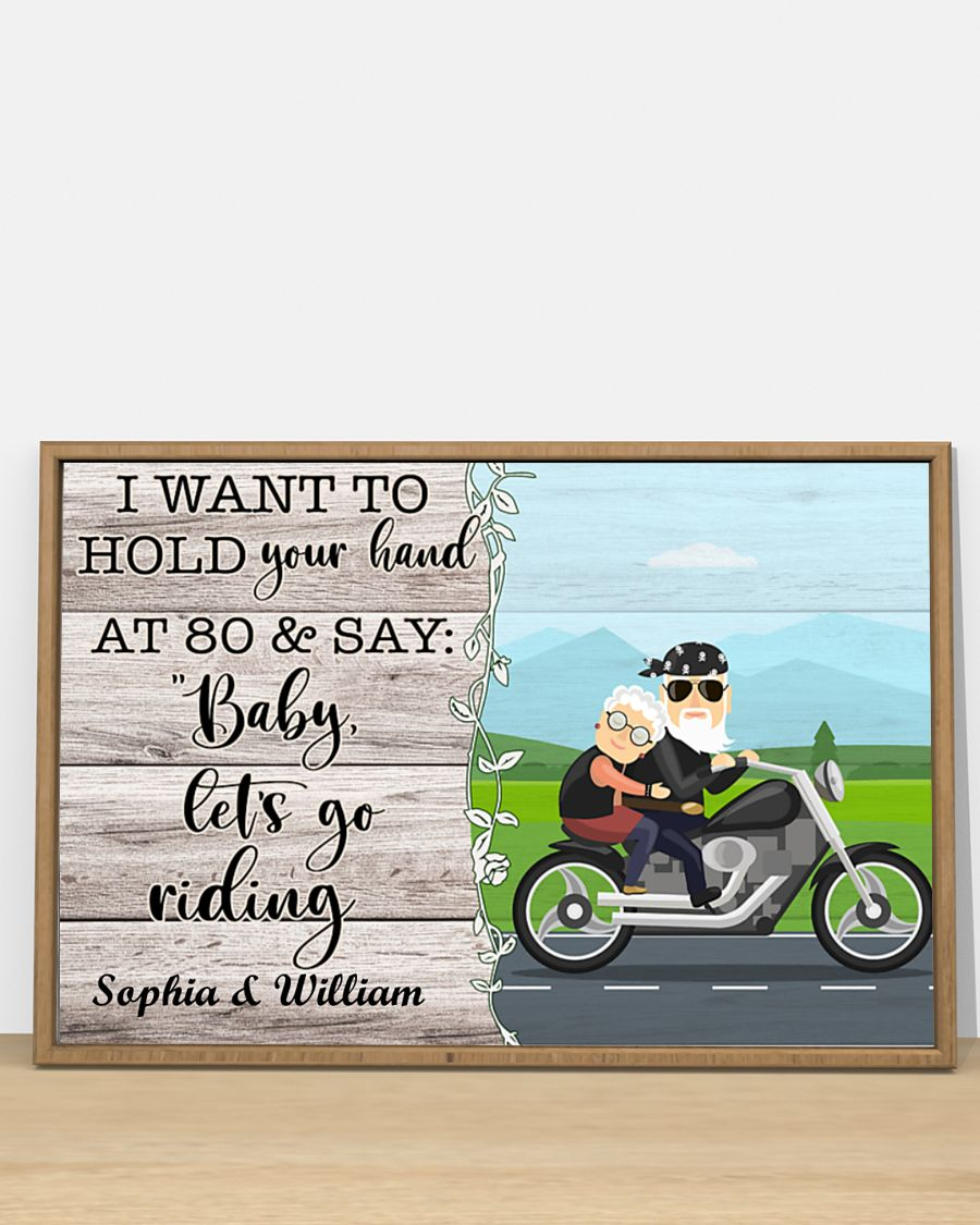 Poster Biker I want to hold your hand and say let's go riding 11