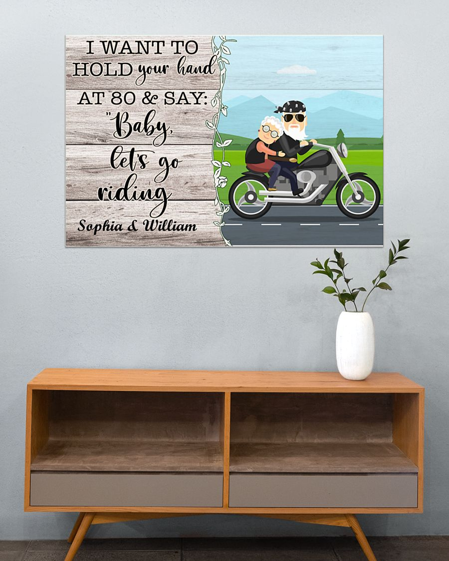 Poster Biker I want to hold your hand and say let's go riding 10