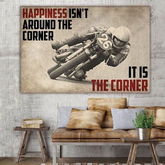 Poster Happiness isn't around the corner