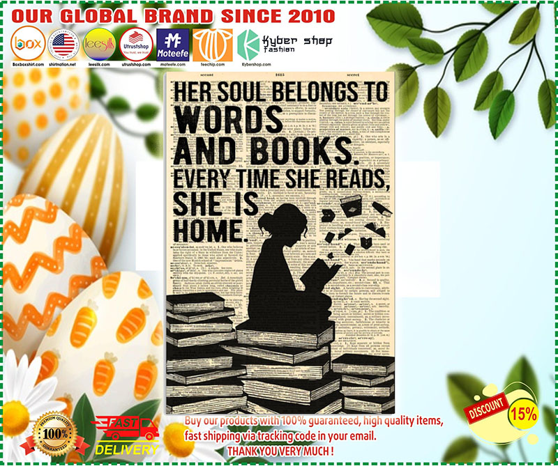Poster Her soul belongs to words and book 11