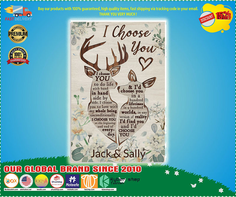 Poster Personalized Deer I Choose You 9