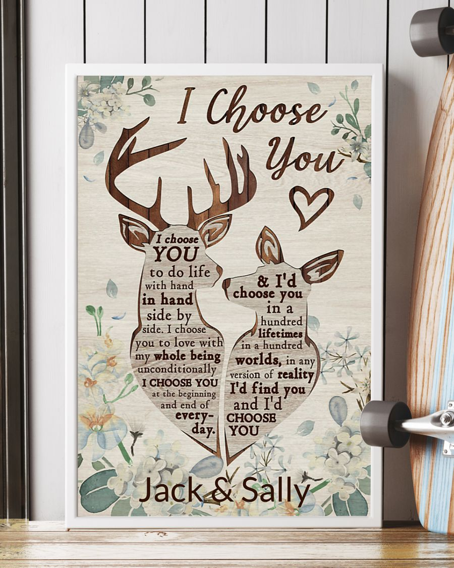 Poster Personalized Deer I Choose You 10