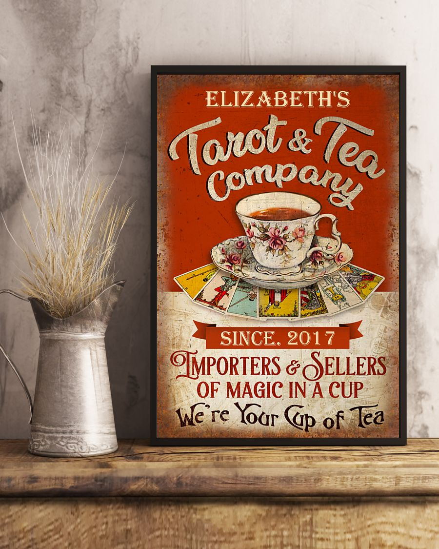 Poster Personalized Tarot and tea company importers and sellers of magic in a cup 9