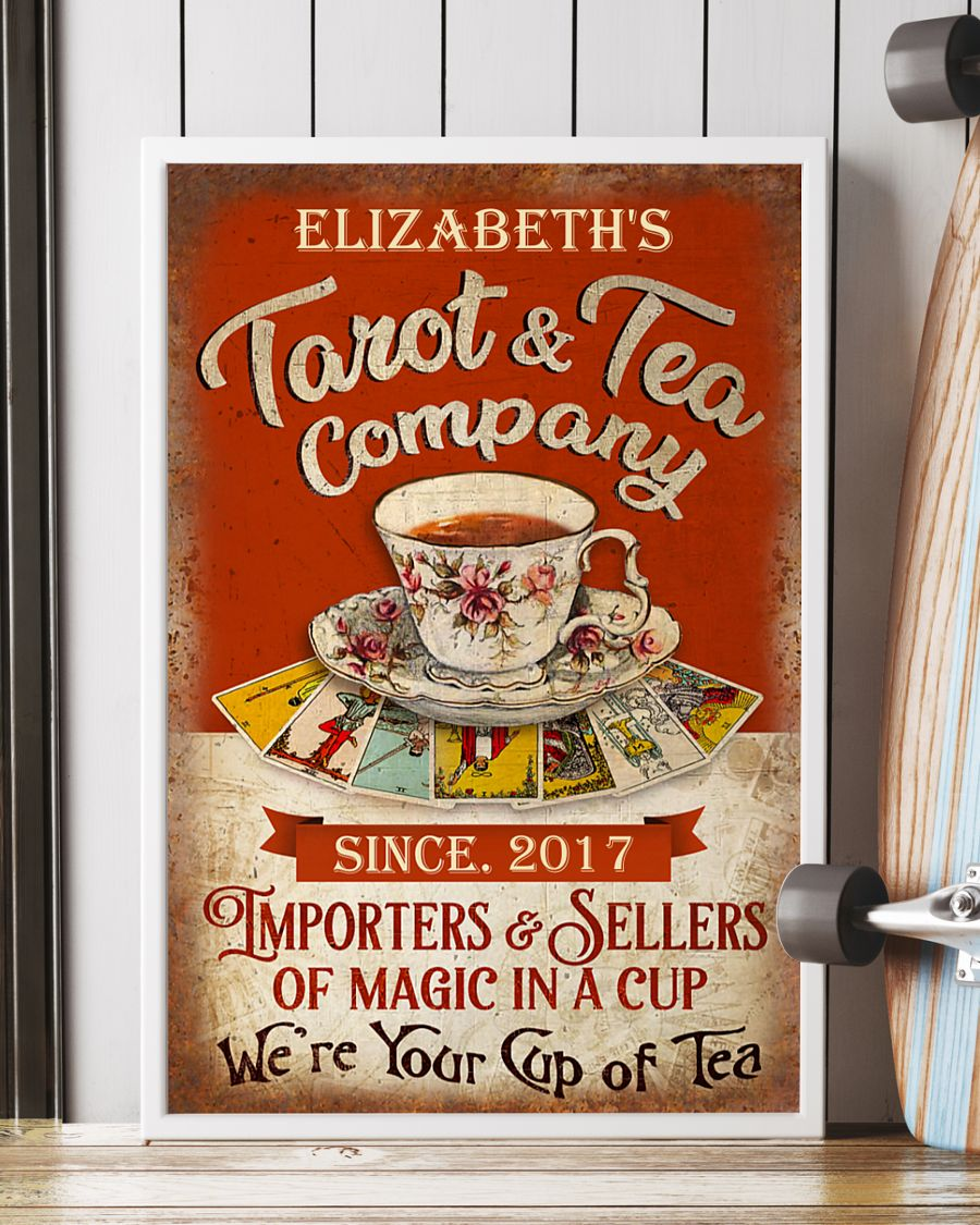 Poster Personalized Tarot and tea company importers and sellers of magic in a cup 10
