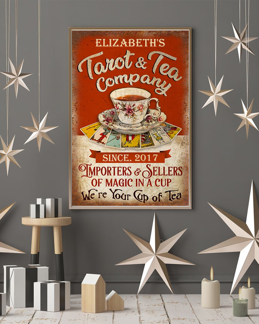 Poster Personalized Tarot and tea company importers and sellers of magic in a cup 11