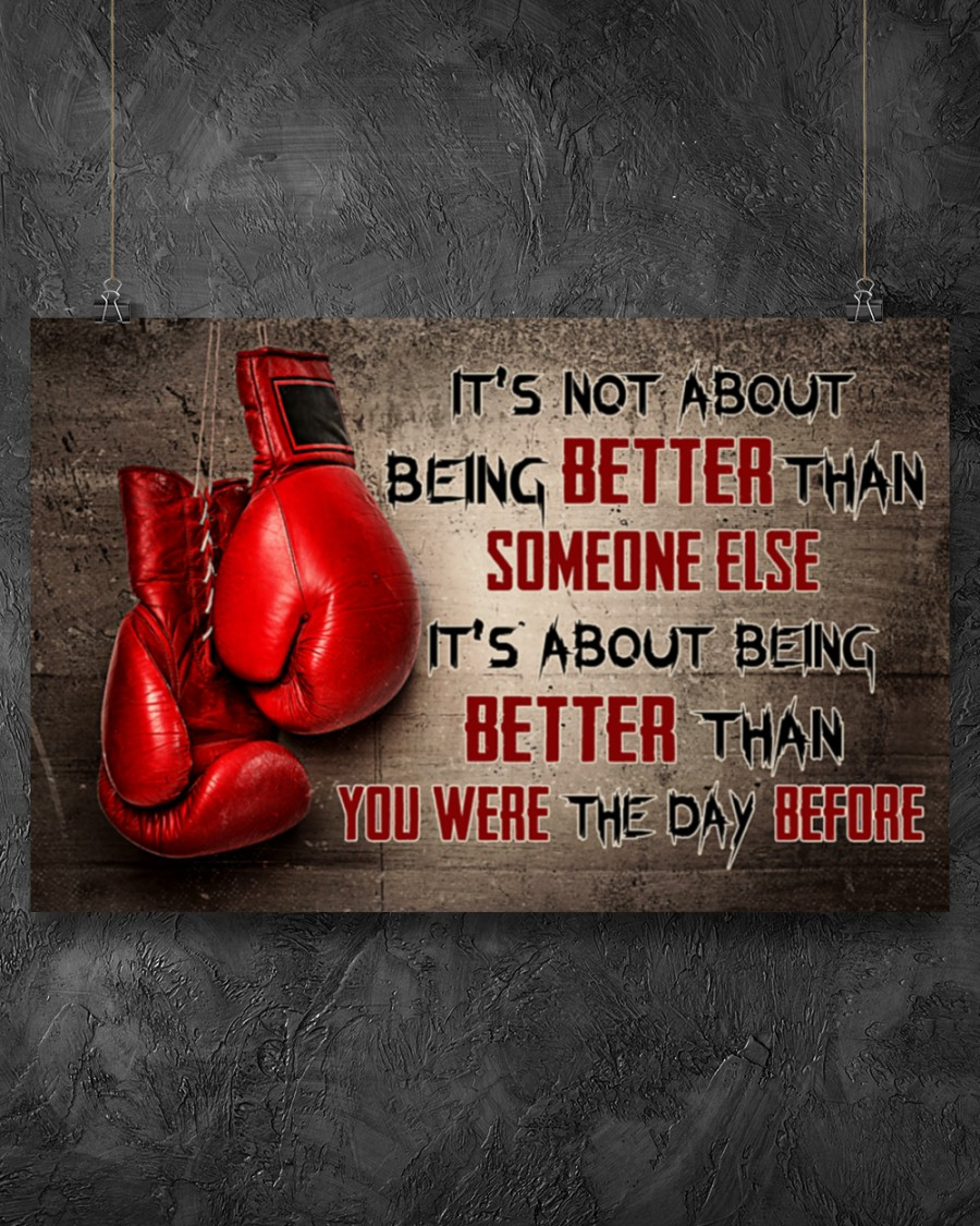 Poster Boxing it's not about being better than someone else 10