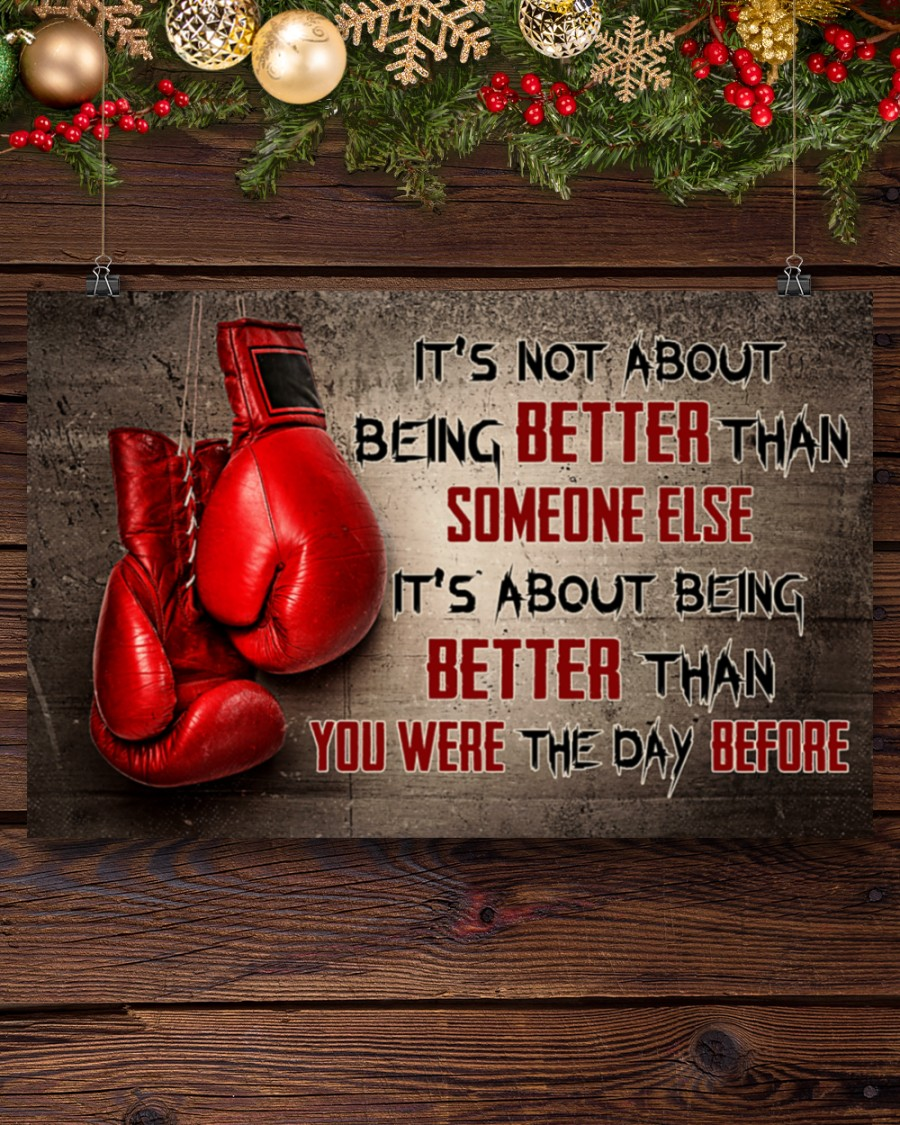 Poster Boxing it's not about being better than someone else 9