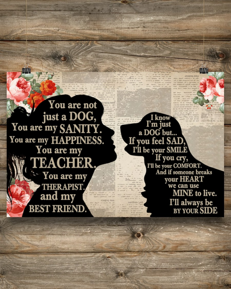 Poster Golden Retriever dog and girl therepist you are not just a dog 9