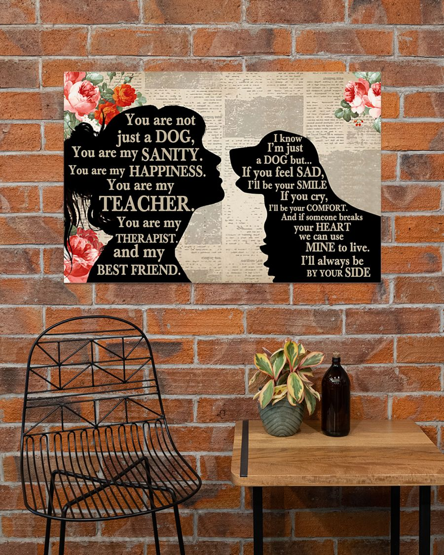 Poster Golden Retriever dog and girl therepist you are not just a dog 10