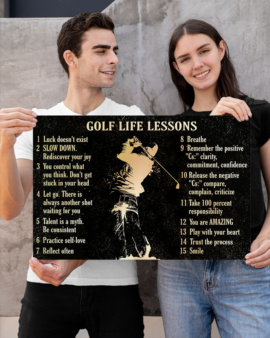 Poster Golf life lessons 13