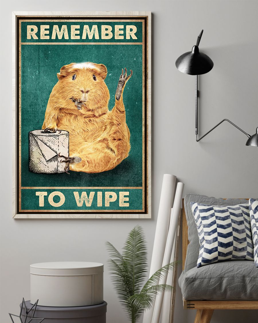 Poster Guinea pig remember to wipe 10
