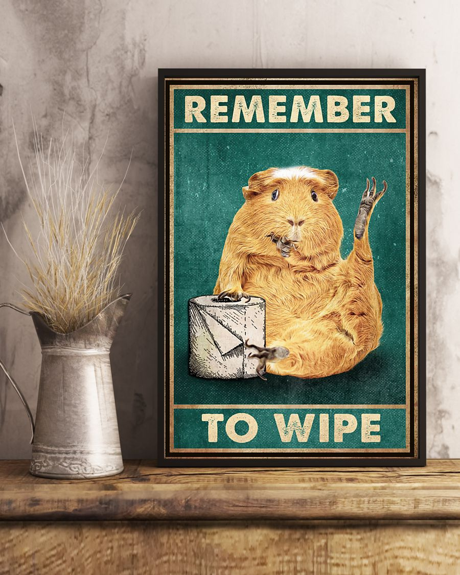 Poster Guinea pig remember to wipe 12