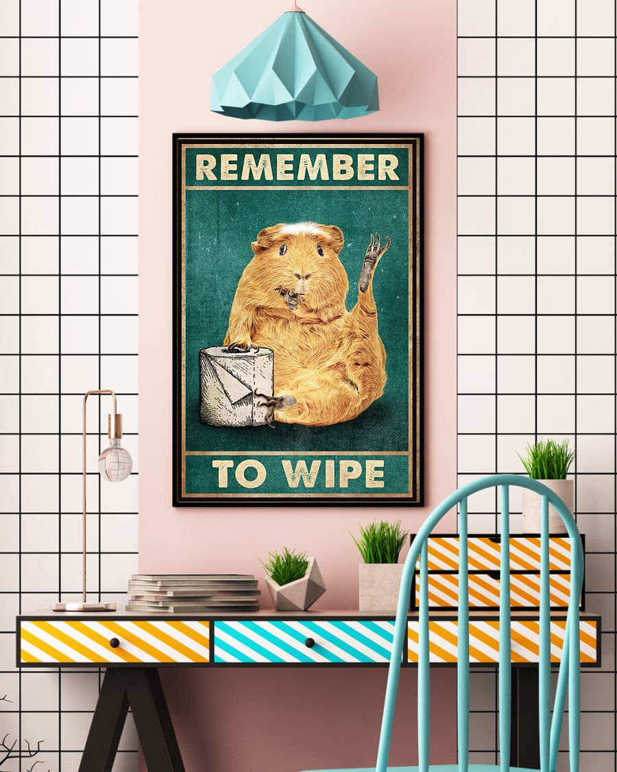 Poster Guinea pig remember to wipe 11