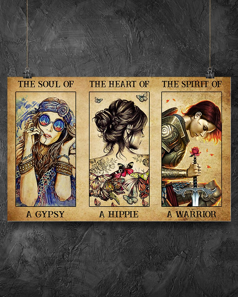 Poster Hippie girl The soul of a gypsy the heart of a hippie the spirit of a warrior 9