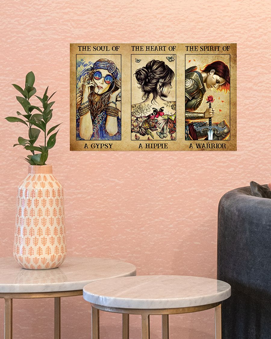 Poster Hippie girl The soul of a gypsy the heart of a hippie the spirit of a warrior 11