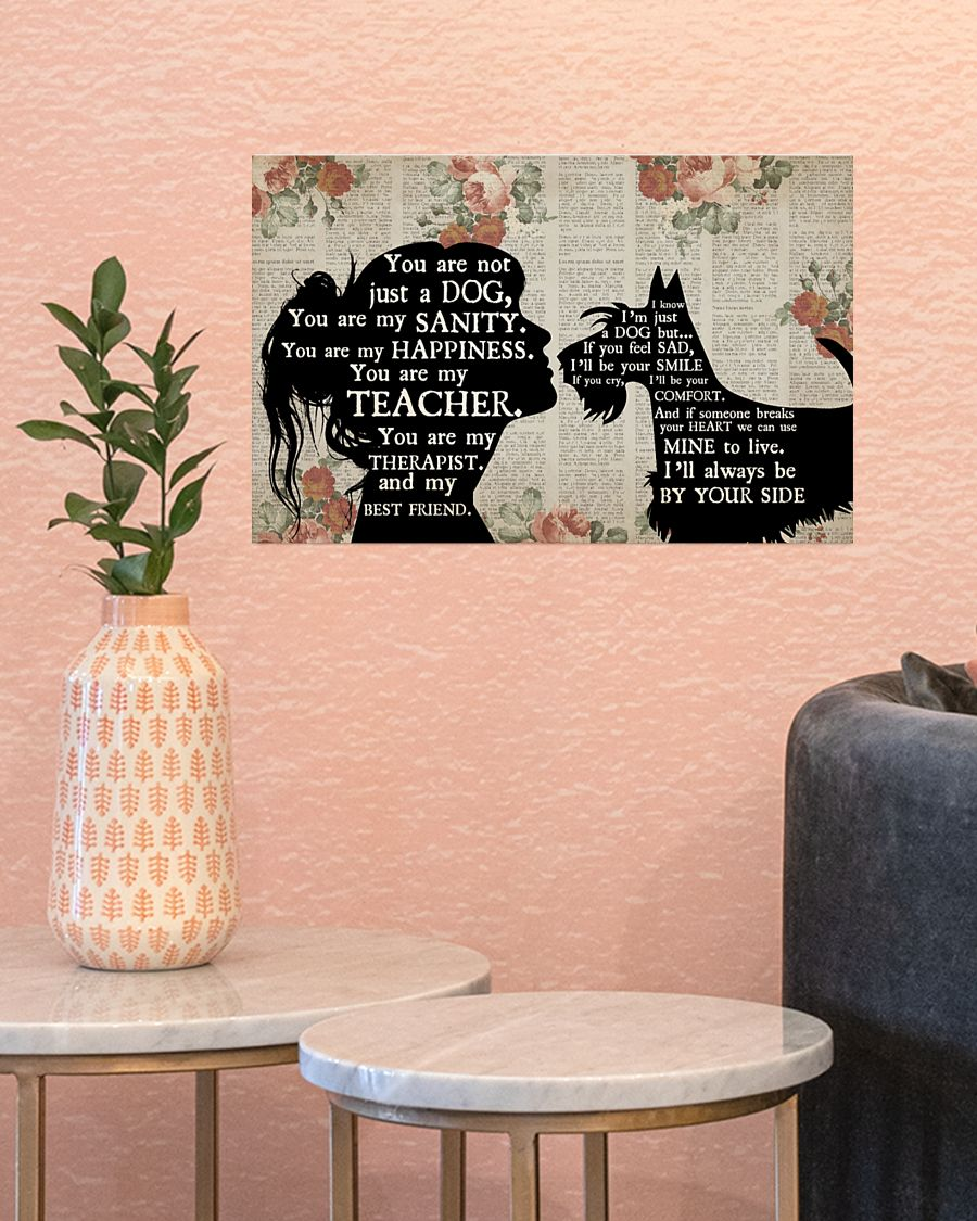 Poster Schnauzer dog girl therapist best friend 9