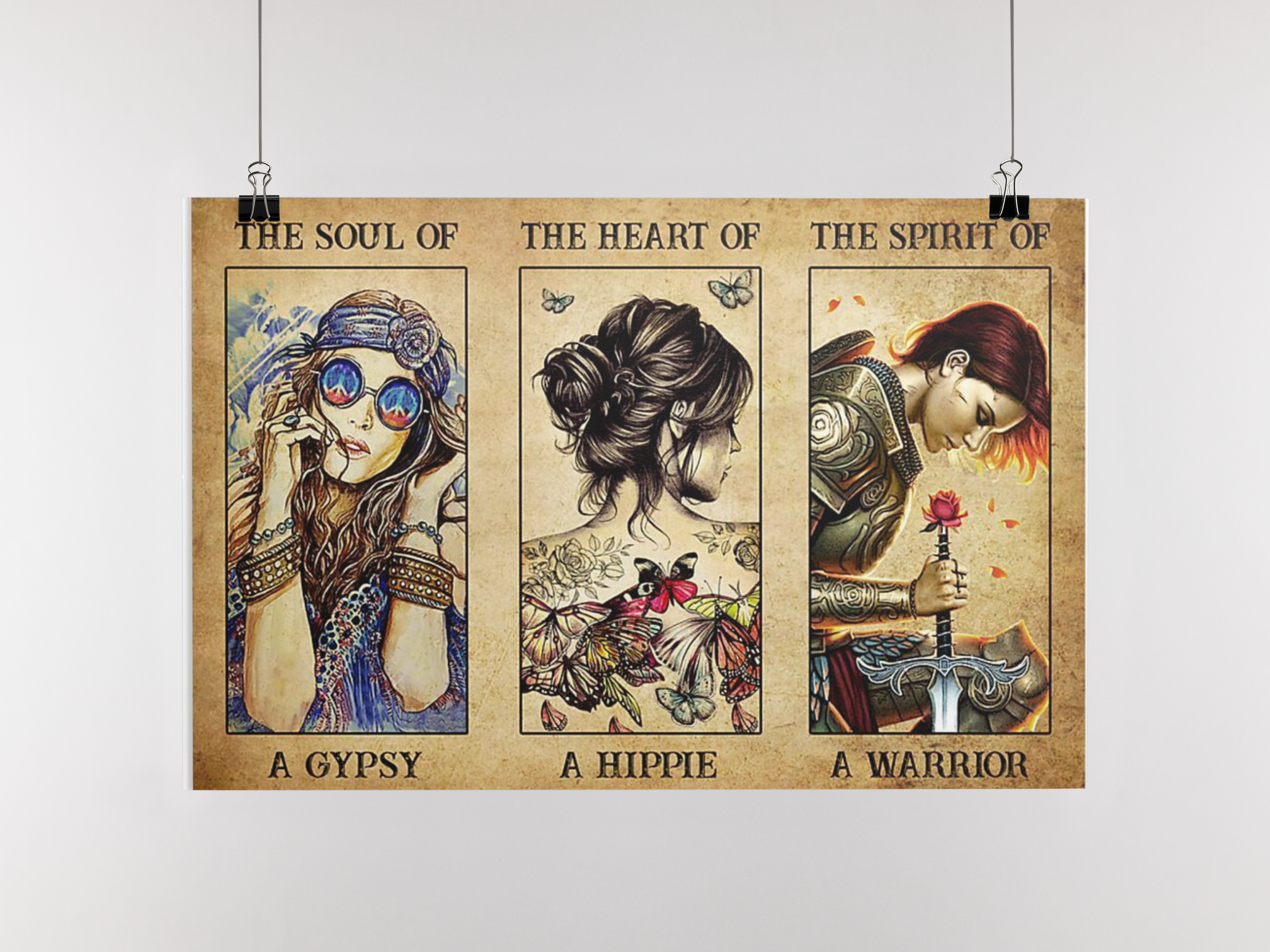 Poster The soul of a gypsy the heart of a hippie the spirit of a warrior 11