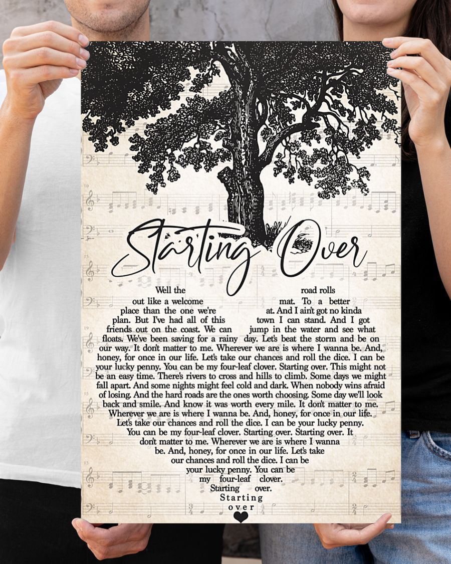 Poster Staring over lyrics 10