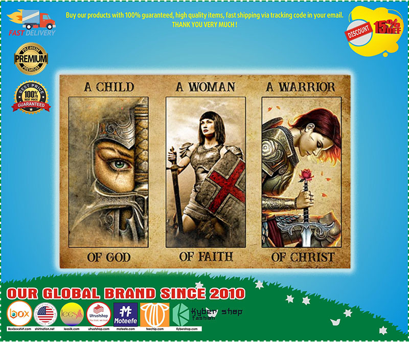 Poster Women a child of god a women of faith a warrior of child 9