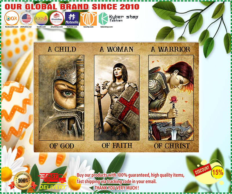 Poster Women a child of god a women of faith a warrior of child 11