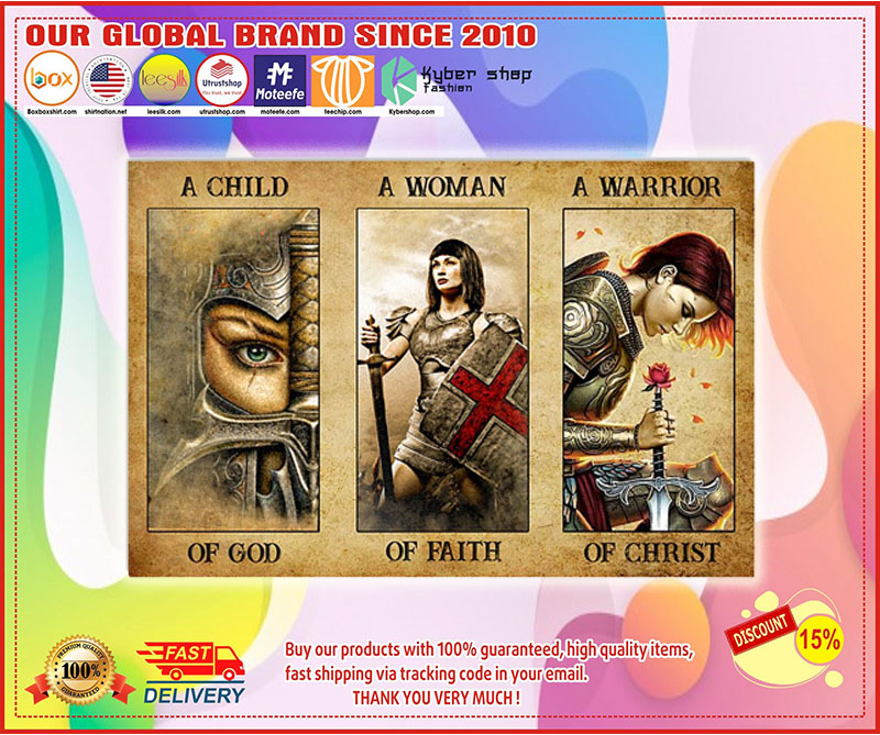 Poster Women a child of god a women of faith a warrior of child 10