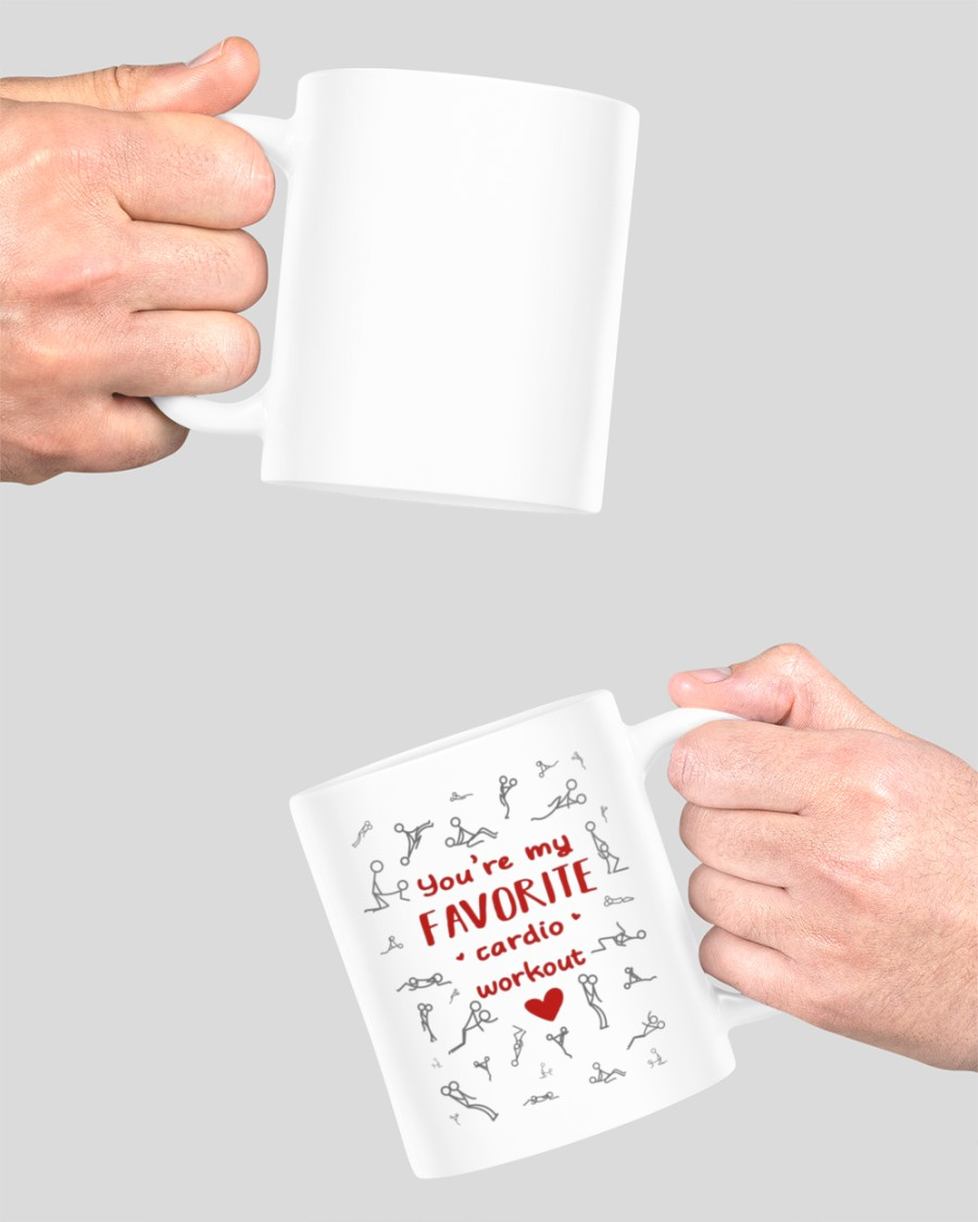 You're my favorite cardio workout Valentine mug 11