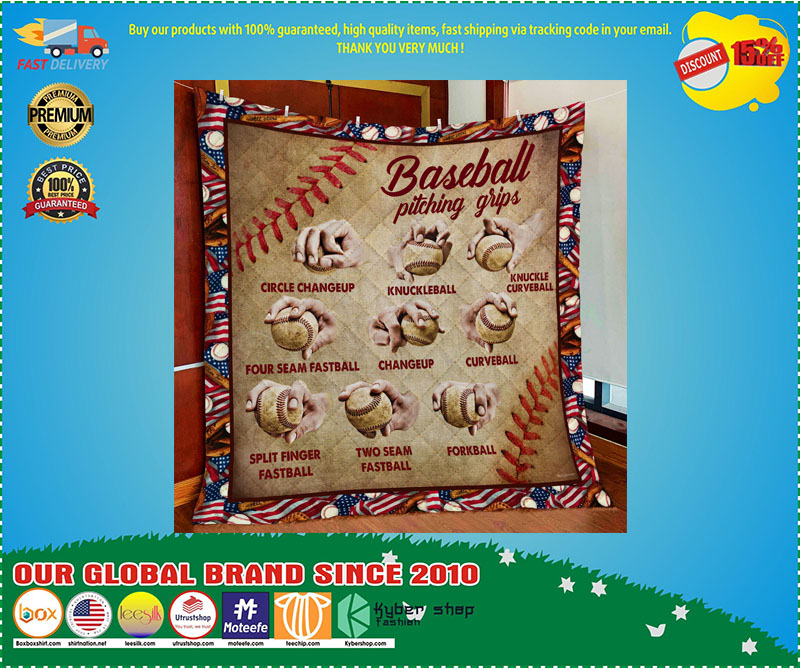 Baseball pitching grips quilt 9