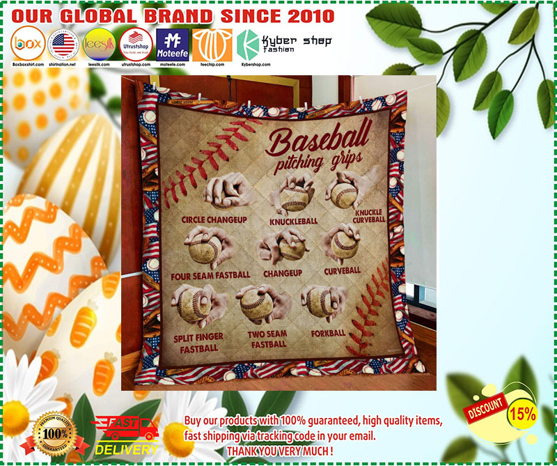 Baseball pitching grips quilt 10