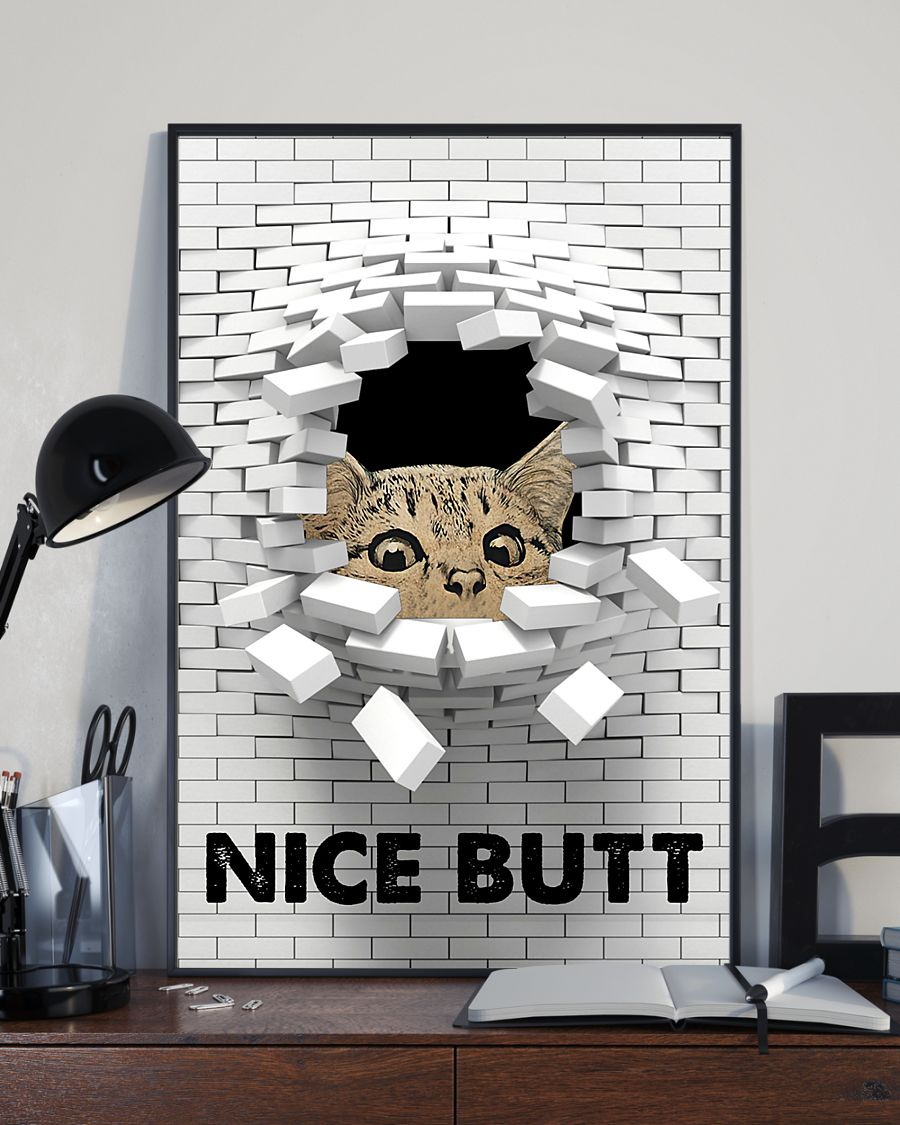 Cat nice butt 3d wall poster 6