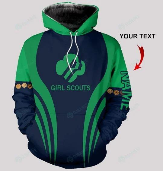 Girl scounts custom name 3D hoodie