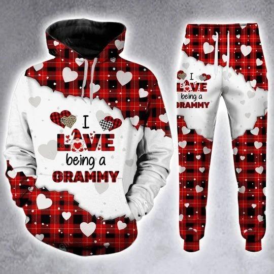 I love being a Gramma custom name 3D hoodie and legging 4