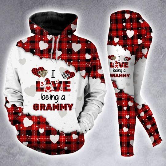 I love being a Gramma custom name 3D hoodie and legging